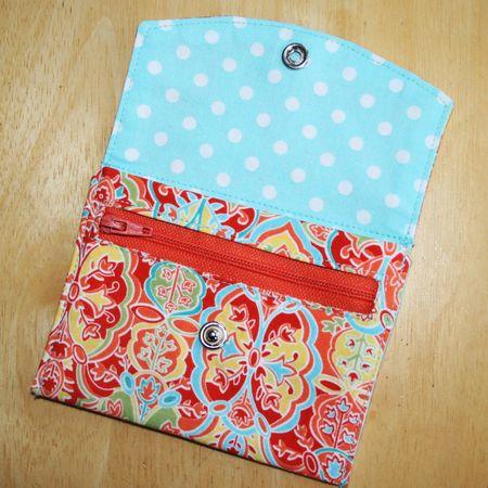 3cf900bef Passo a passo e moldes de carteiras de tecido - A.Craft