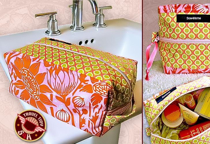 Suficiente 10 Passo a passos de necessaires de tecido - A.Craft QS68