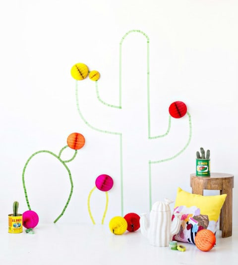 DIY-Washi-Tape-Cactus-cacto-parede