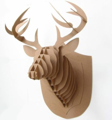Cabeça De Alce de madeira - 3d - Tamanho grande (2)
