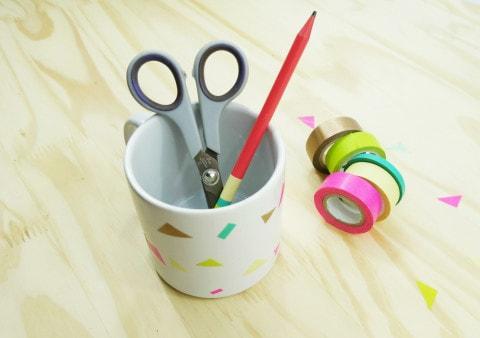 Canecas com washi tape: DIY