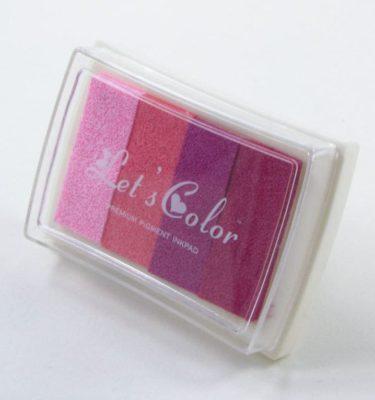 Carimbeira - Lets color degrade rosa 1