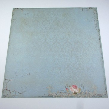 Folha cartolina decorada (scrapbook) - Boutique vintage 1