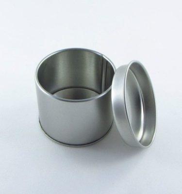 Latinha - Cilindrica prata pequeno (Diam. 6 x 4 cm)
