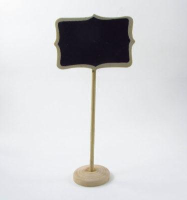 Mini lousa no pedestal - quadrada