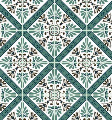 Tecido adesivo - Azulejos azuis (50 x 100cm)