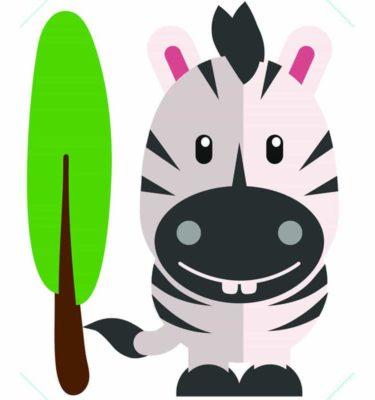 Tecido adesivo - Flok Zebra 30cm x 25cm