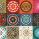 Tecido adesivo - Mandala mix (50 x 100cm)