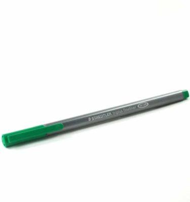Caneta super fina - Staedtler fineliner - Cor verde