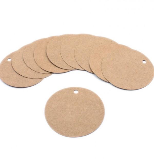 Tag - Papel kraft rígido formato circular (10 un.)