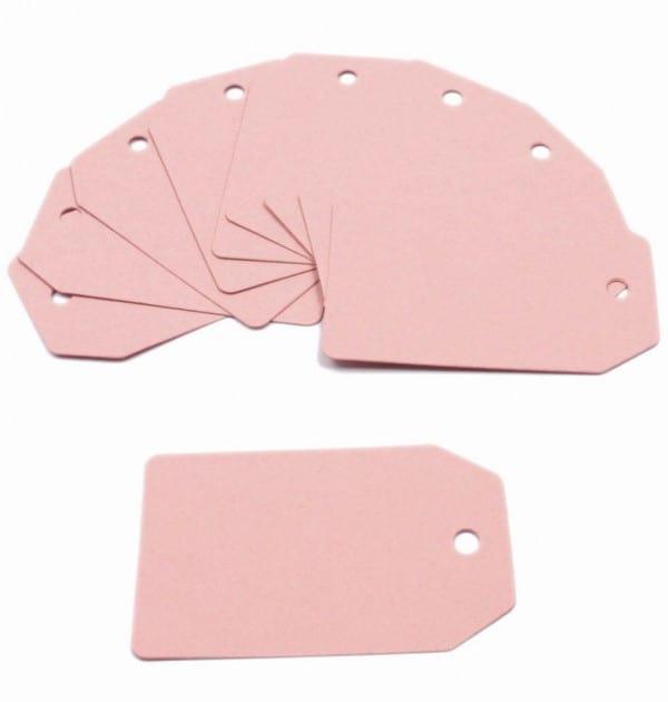 Tag - Papel rosa rígido (10 un.)