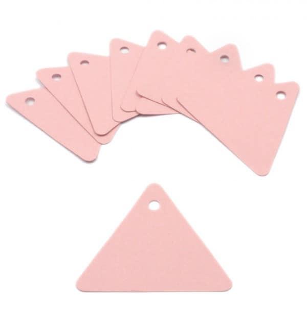 Tag - Papel rosa rígido formato triangular (10 un.)
