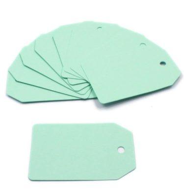 Tag - Papel verde rígido (10 un.)