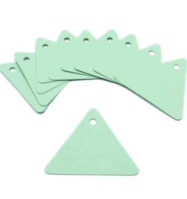 Tag - Papel verde rígido formato triangular (10 un.)