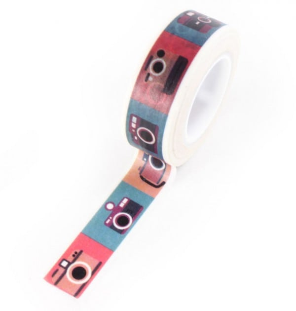 Washi tape - Cameras coloridas
