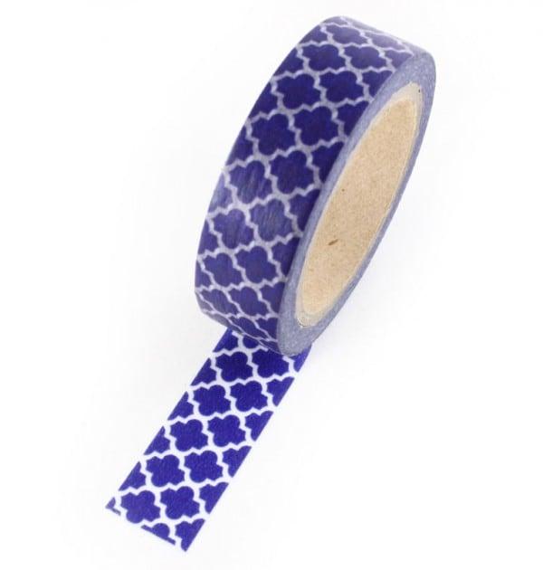 Washi tape - Estampa azul marinho