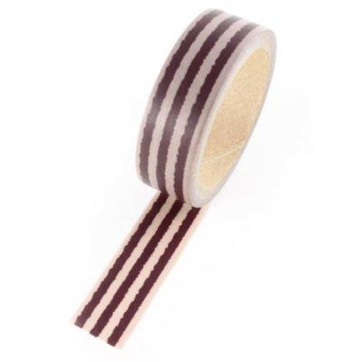 Washi tape - Listras marrom