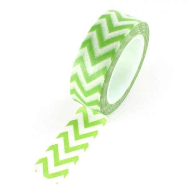 Washi tape - Zigzag verde abacate