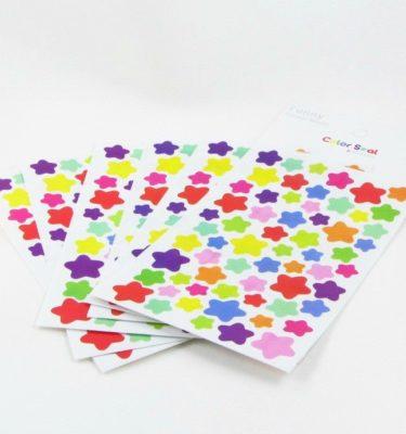 Adesivos - 6 Cartelas estrelas coloridas
