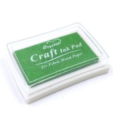 Carimbeira com tinta (para tecido e papel) - Maçã verde