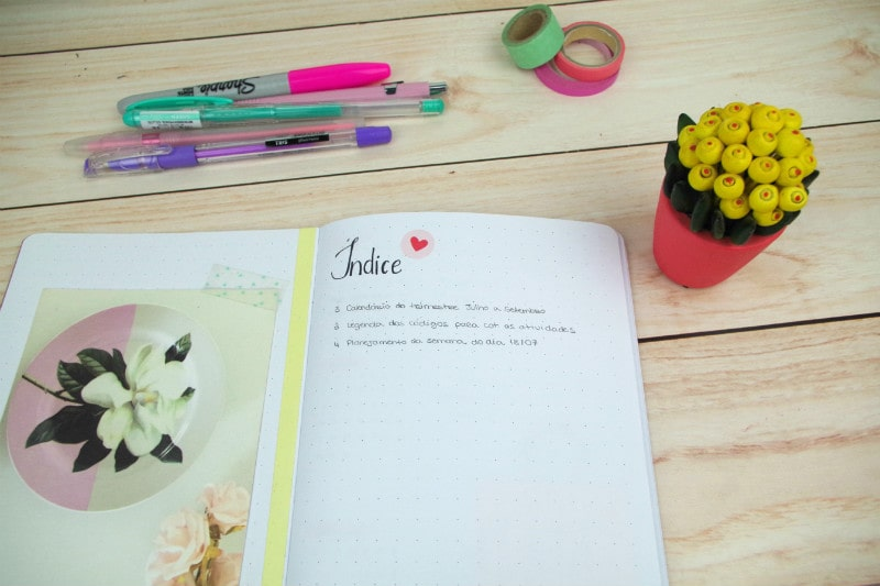 Como criar um bullet journal com criatividade