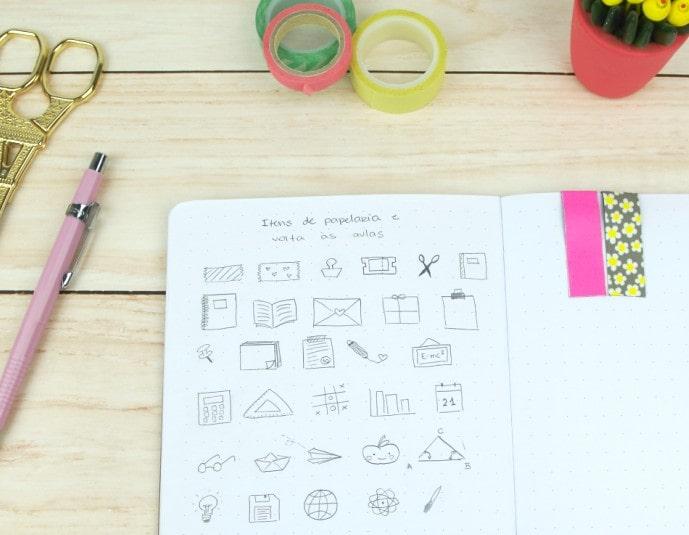 Desenhos para planner, bullet jorunal e agendas 1