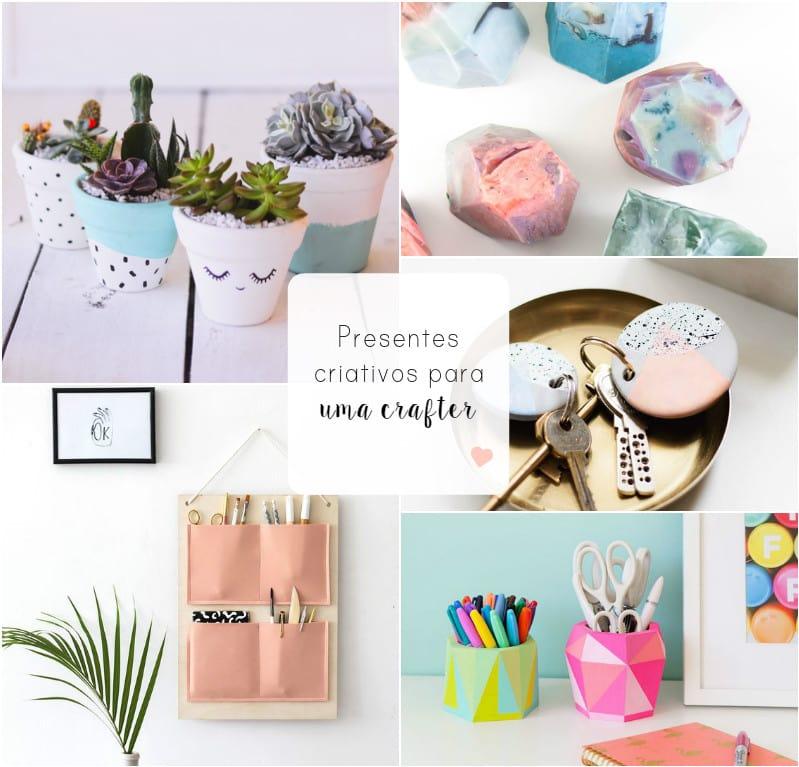 Presentes DIY criativos para uma crafter0