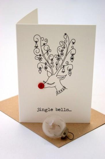cartão de natal feito a mão