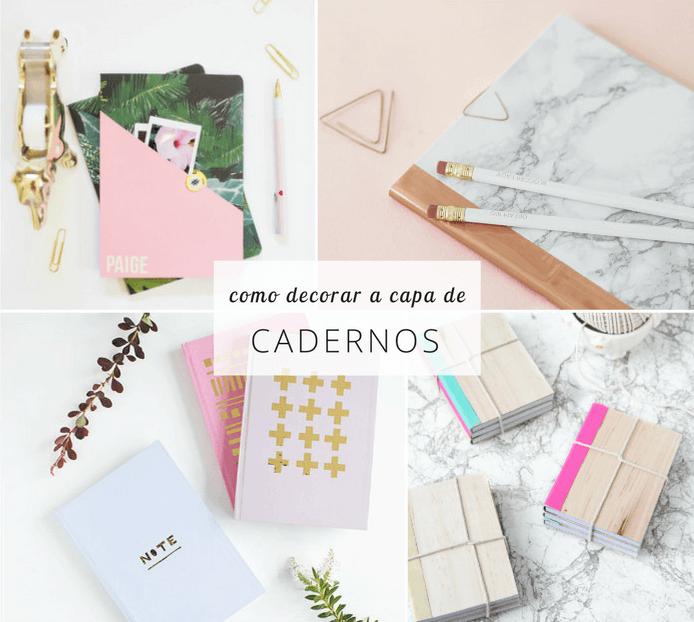 Como decorar a capa de cadernos: 8 ideias fáceis