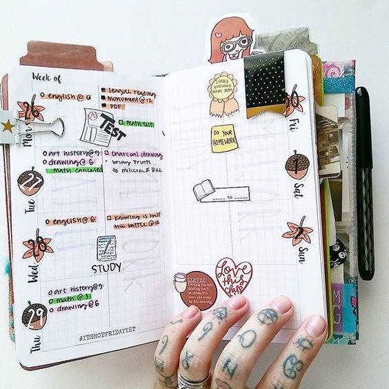 Organizar o planner com cores: Colorcode 1