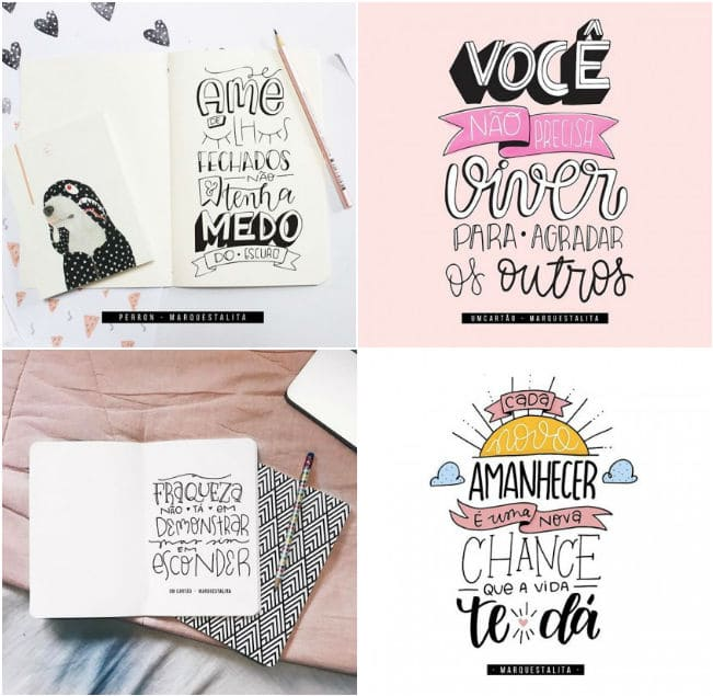 Lettering: achados para você se inspirar e a criar os seus