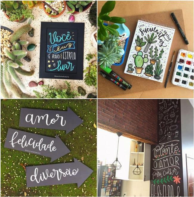 Lettering planner estudos inspiração ideias decoração planner