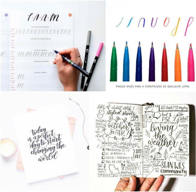 Lettering planner como fazer inspiração ideias decoração planner