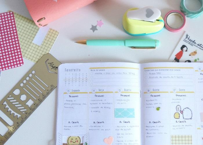 Organizar o planner em cores: Colorcode