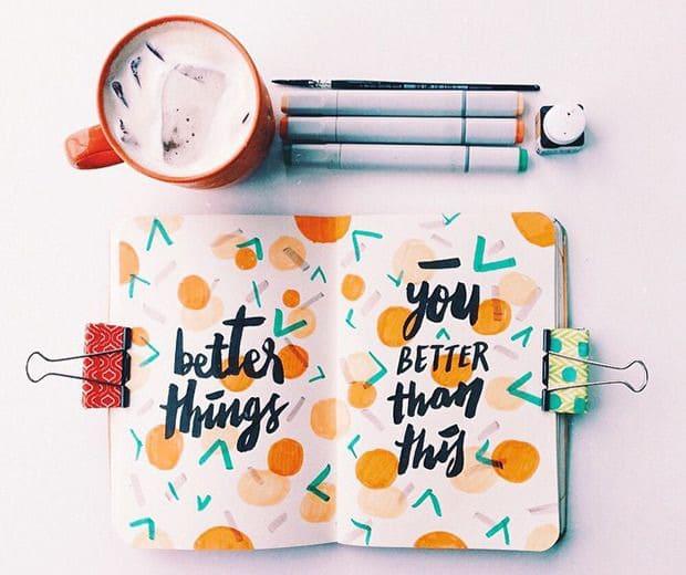 materiais para caligrafia e lettering