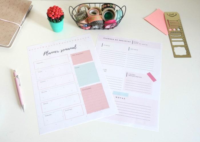 Planner semanal: ferramenta para criar e personalizar o seu grátis 7