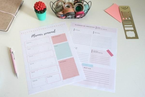 Planner semanal: ferramenta para criar e personalizar o seu grátis 4