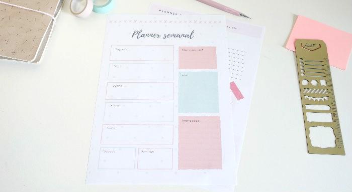 Planner semanal: ferramenta para criar e personalizar o seu grátis 9
