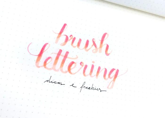 Brush Lettering - Dicas de como fazer e freebie grátis para treinar 11