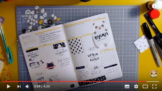 Como decorar o planner A.Craft: dicas do Youtube 3
