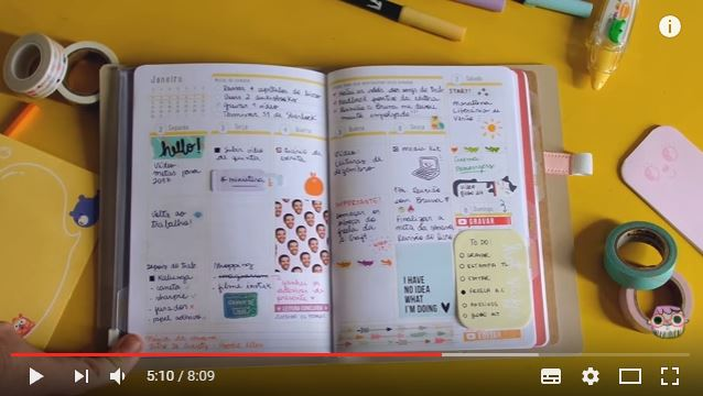 Como decorar o planner A.Craft: dicas do Youtube 2