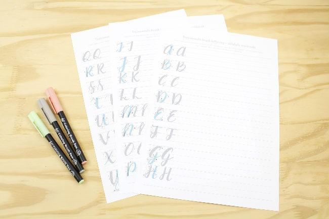 Materiais para lettering e caligrafia