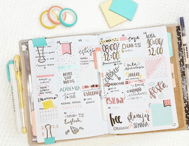 decoracao planner bullet journal acraft bujo