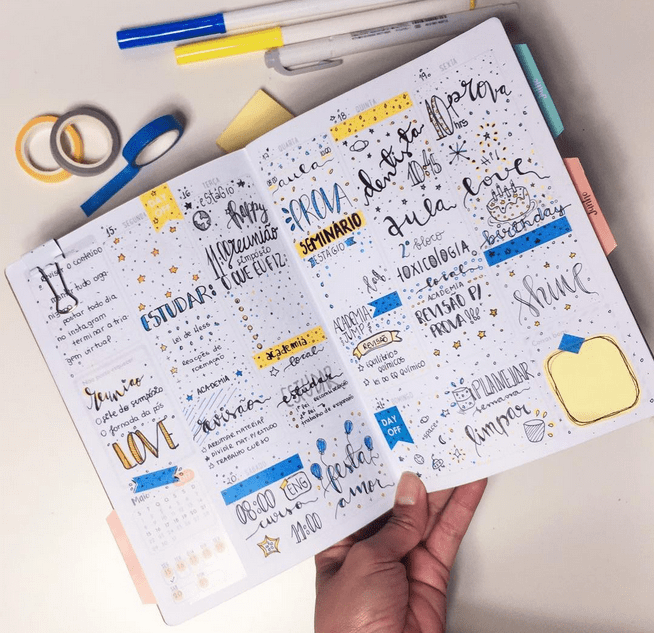 decoracao planner bullet journal acraft bujo 2