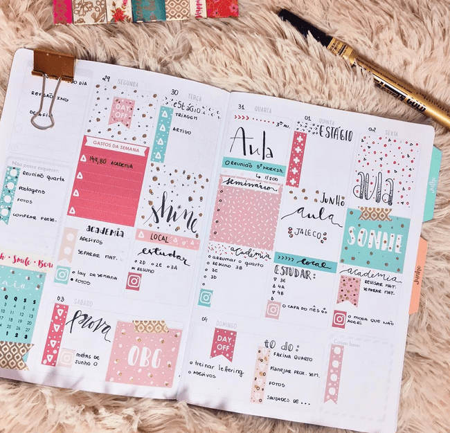 decoracao planner bullet journal acraft bujo 5