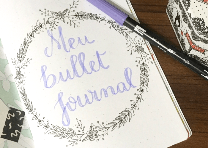 como decorar seu bullet journal ou planner sem necessariamente gastar muito.