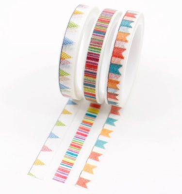 Kit-3-washi-tapes---Bandeirinhas-e-listrado