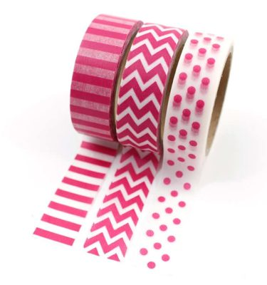 Kit-3-washi-tapes---Estampa-rosa