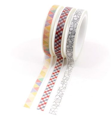 Kit-3-washi-tapes---Xadrez,-triangulo-e-geometrico