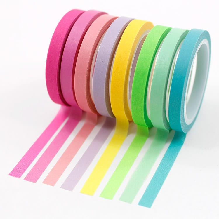 Kit-8-washi-tapes---Cores-neon